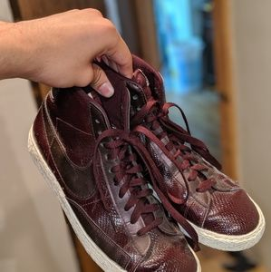 Nike Red Leather Shoes